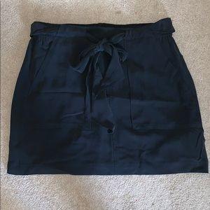 NWT Madewell black silk miniskirt